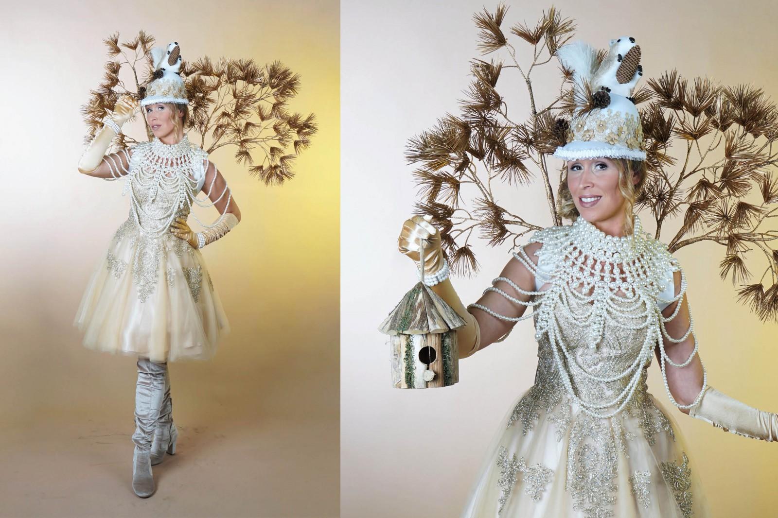 Herfstdames, herfst kostuum, luxe goud parels, autumn, herfstlook