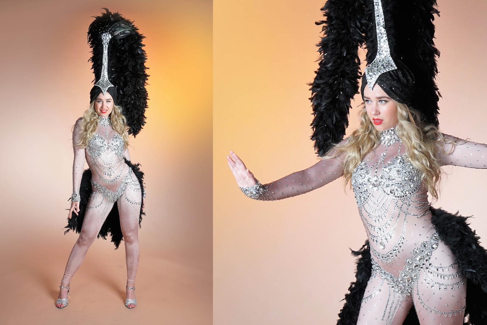 Gouden kostuum, thema kostuum, thema entertainment, mobiel entertainment