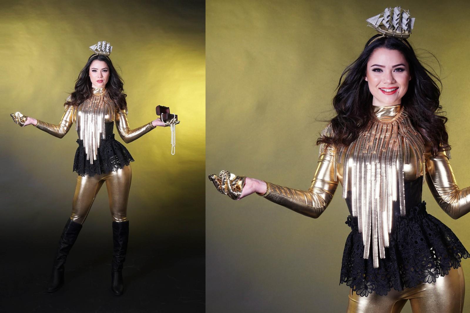 Golden treasure, gouden thema, goud thema, thema kostuum, mobiel entertainment, event entertainment