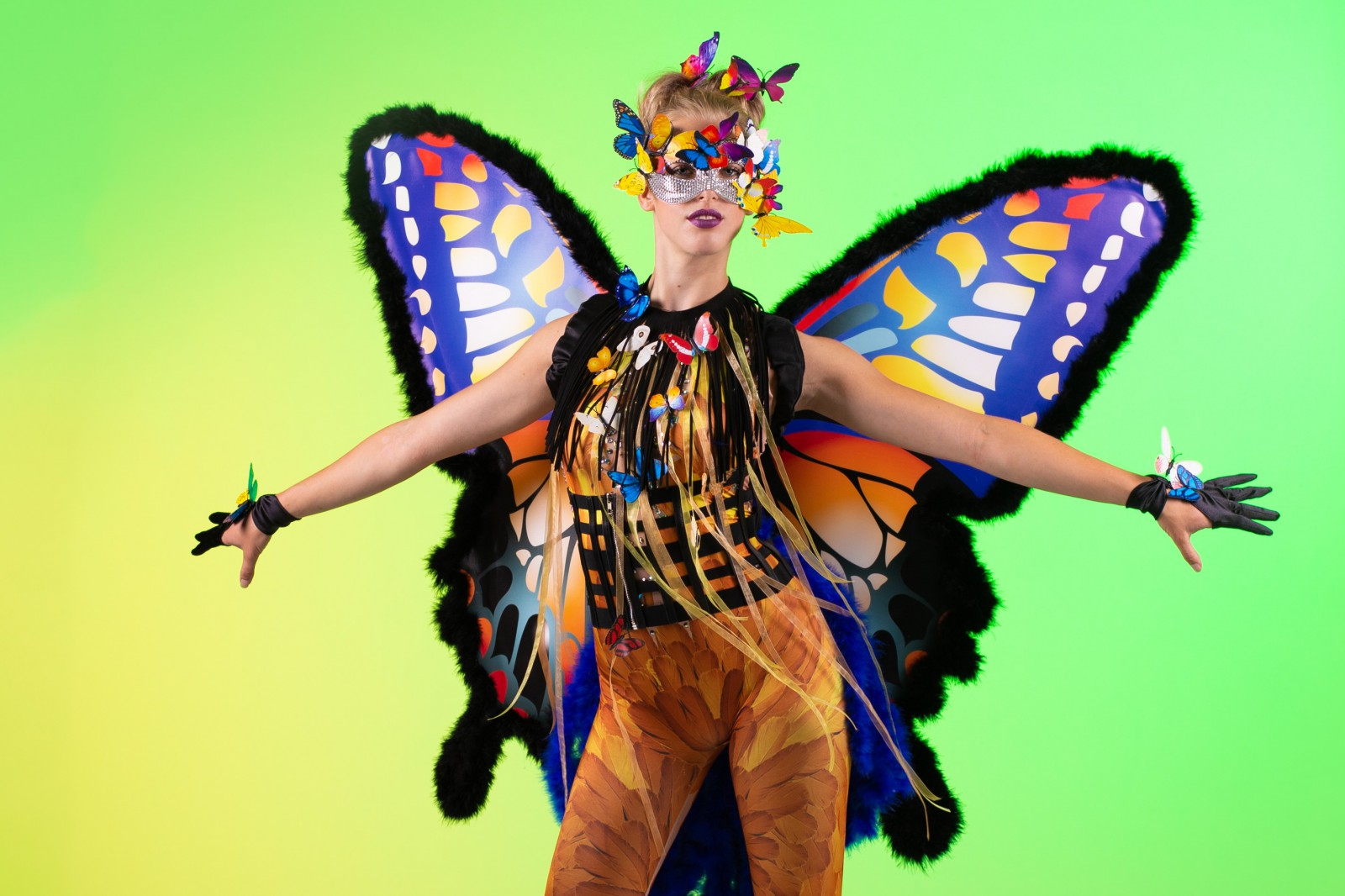 Vlinderdame, Zomerse Feesten, Summer Events, Fantasy Entertainment, Themadame, Promotieteam, Beautiful Butterfly, Freestyle Danseres, Dance Act.