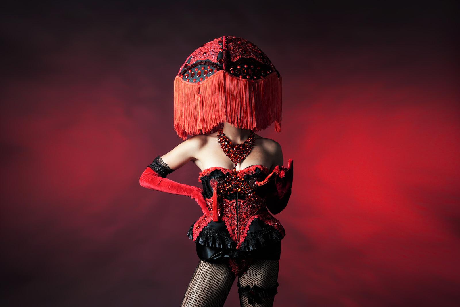 Moulin Rouge kostuum, Danseres, danseressen Burlesque, act, entertainment, valentijn, liefde