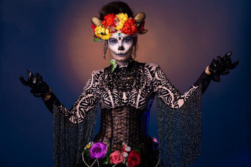 Halloween, Dia de los Muertos, Trick or Treat, Dansact, Doodskop, Skeleton Act, Scary Act, Event Entertainment, feest van de doden