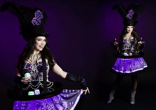 Casino dame, Las Vegas thema events, Casino Girl, Speldames, Speldame met dobbelspel, LED entertainment, Mobiel spel, Mobiele act. Promotiedames, Hostesses, Amusement entertainment.