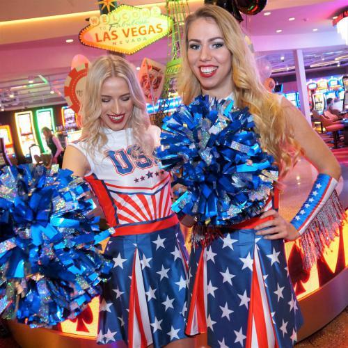 Amerikaans thema, NFL, Rugby, event entertainmentsports, Cheerleaders, danseressen,