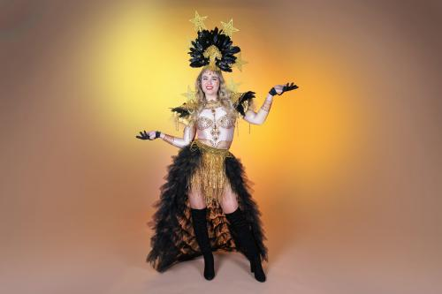 Golden Star, goud kostuum, goud thema, thema kostuum, thema event, mobiel entertainment
