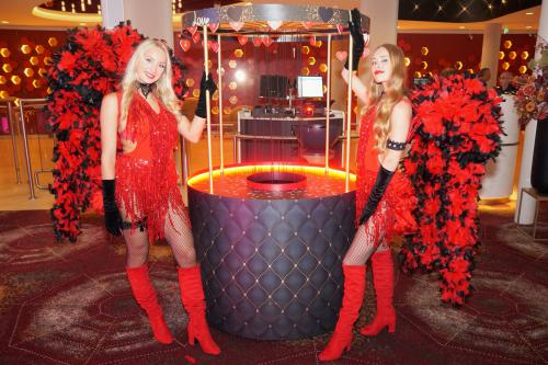 Burlesque, thema kostuum, thema entertainment, thema event, rood thema, moulin rouge, mobiel entertainment