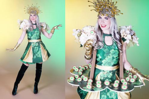 Klaver kostuum, Geluksdag, Complimentendag, Saint Patrick's Day, USA, Candy Girls