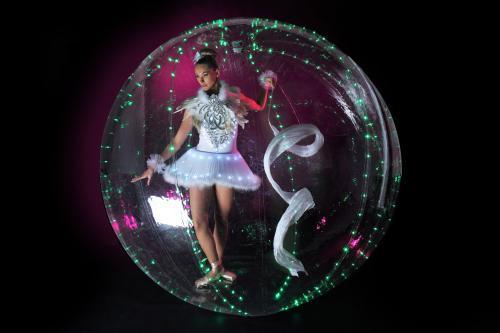 LED Ballet, ballet, ballet danseres, LED bubble, Bubble girl, Freestyle dans, mobiel entertainment, event entertainment