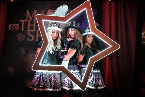 Mad Hatter, Alice in Wonderland, Foto actie, LED foto act, Kaartenspel dame, Casino Girl, Joker, Thema Dames, Promotionteam, Purple Magic, Spelletjes, Promotie.