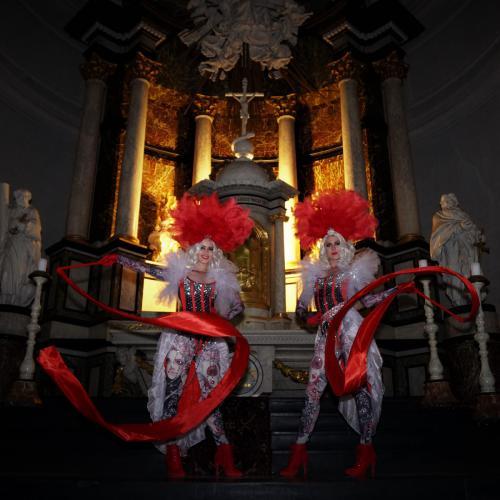 urleske Circus dame, Burlesque, Showgirl, Circus danseres, Moulin Rouge thema events, Barok, Masquerade Fantasy