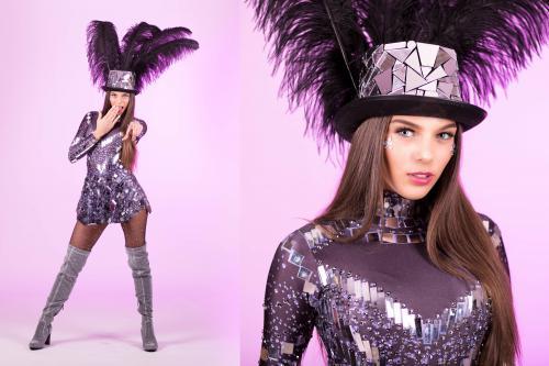 Spiegeldame, Freestyle Dancer, Disco Danseres, Mirror Girl, Entertainment, Themadames, Winter, Danseressen, Promotiedames.