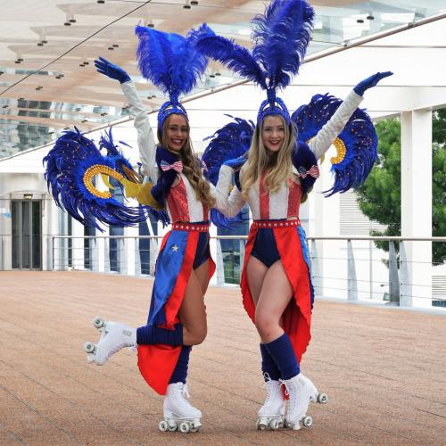 Roller girls, roller skate, skate girl, skate entertainment, rollerskates entertainment, field entertainment, thematisch entertainment, thema kostuum, thema feest, thema entertainment, event, thema event, circus event, circus thema, circus decor, circus
