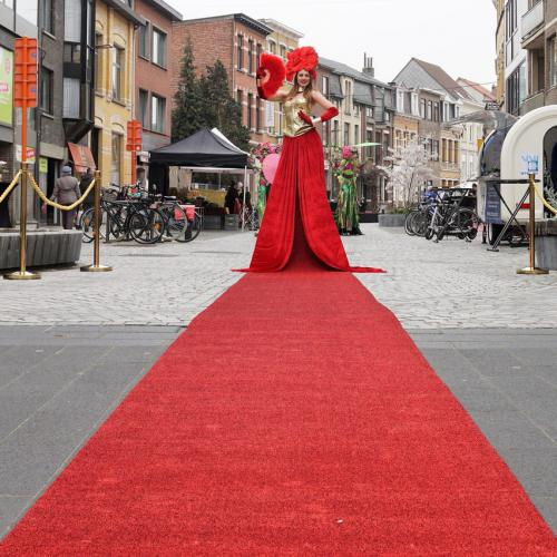 Welkomst act, Gold Party, Gold event, Gala, Levende Loper, Gouden Loper, Luxe gastenontvangt, event entertainment, diamond act