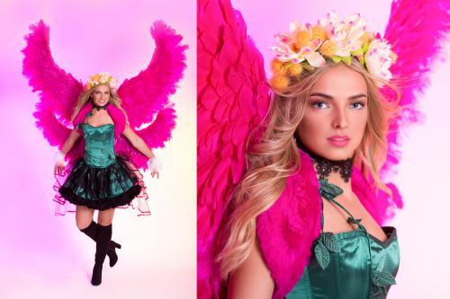 Lelie Angel, Pink Lelie, Bloemenmeisje, Pink Wings, Themadame, Promotion, Valentine Angel, Hostess, Entertainment, Promotie Team, Pink Beauty, Love.