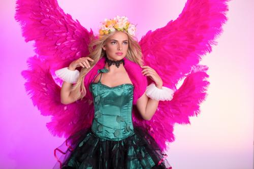 Lelie Angel, Pink Lelie, Bloemenmeisje, Pink Wings, Themadame, Promotion, Valentine Angel, Hostess, Entertainment, Promotie Team, Pink Beauty, Love.