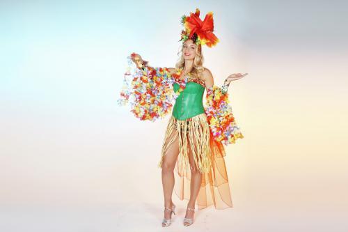 Hawaii kostuum, hawaii thema, thema kostuum, thema entertainment, aloha kostuum, mobiel entertainment, welkomst acts, welkomst host