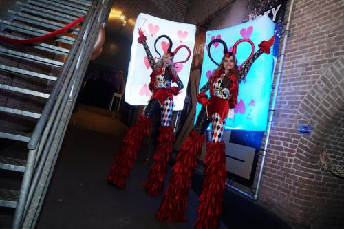 Joker kostuum, casino thema, casino avond, thema avond, thematisch kostuum, mobiel entertainment, event entertainment