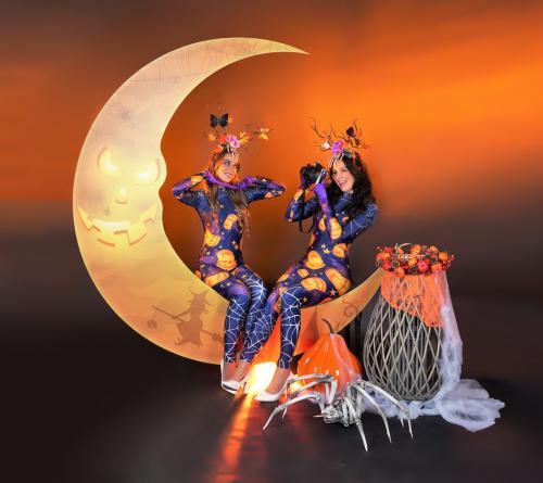 Halloween maan, fotodecor, fotobooth, decoratie