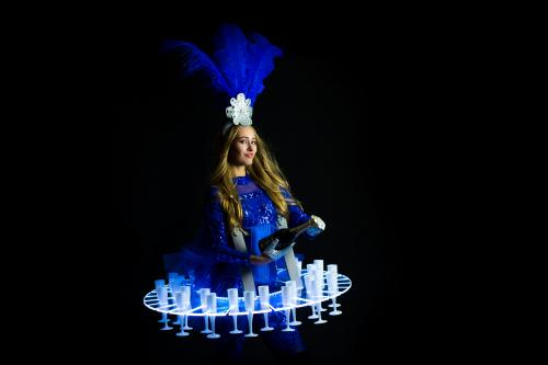 Champagne Dame, LED Display, Entertainment, Themadames, Promotiedames, Champagne Schenker, Hosting, Show Girl.