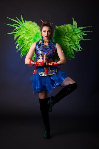 Asian Warrior, Chinese Nieuwjaar, Dans act, Danseressen, Orientaals uitstraling, Sushi Girl, Themadame voor Chinese Nieuwjaarsevent, Nieuwjaarsviering met Aziatisch thema.