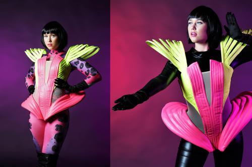 Neon, Futuristisch, Back to the Future, Robot, Entertainment, danseressen, events