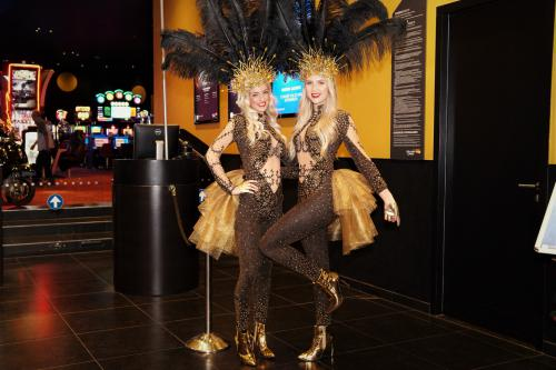 Goudkoorts, Goldgirls, Gold Thema, Goud event, Custommade kostuums, Casino dames, Casinogirls.