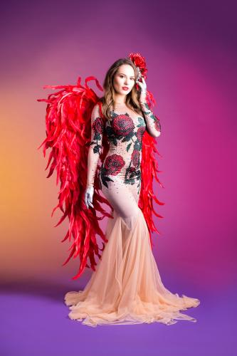 Cupido Engel, Valentijnsengel, Rozendame, Liefdes engel, Cupido Angel, Valentine, Luxe Valentijn promotie, Hostess, Themadames, Fotoact, Welkomstact.