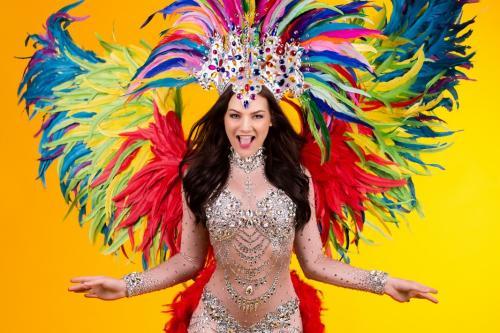 feathers, brazilian, summer events, explosie van kleuren, sparkling, danseres, latin