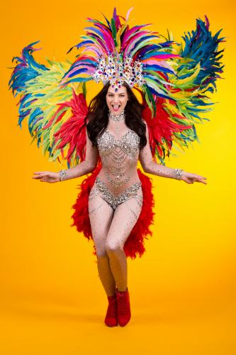 Brazilliaanse danseres, Diamond Girl, Summer events, Tropical party, Zomer Danseressen, Carnival thema, Zomercarnaval.
