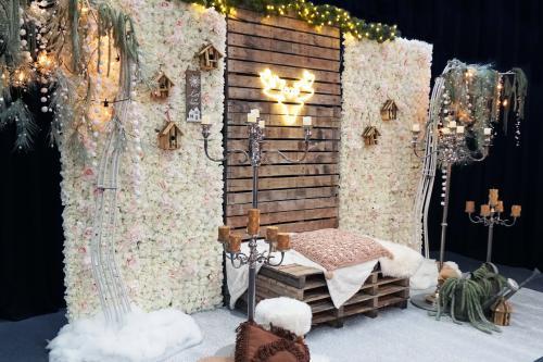 Winter decoratie, winter selfie booth, fotobooth, foto flyer, decor, eventstyling, styling, event, winter wedding, winter bruiloft, romantisch