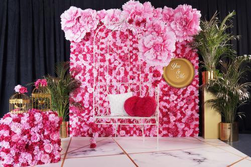 Flowerwall, Flower wall, Bloemenwand, nature, fotobooth, activatie, fotowand, decor, styling, event decoratie huren,  roses, chic, art deco, wedding, love,
