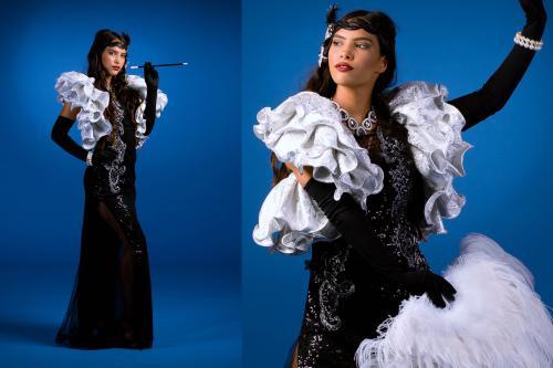 Great Gatsby, Roaring 20-ties, New York, Broadway, Charleston, Dans entertainment, Gatsby show danseressen, themakostuum, parels, veren, entertainment, twenties, evenement, Gatsby theme, Gatsby thema, Gatsby evenement, Gatsby event