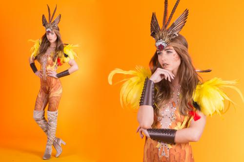 Wildlife Huntress, Feather Girl, Tropische dame, Jungle events, Summer events, Trophee, Fantasy