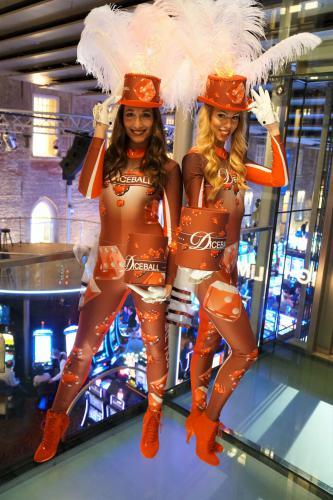 Promotioneel entertainment speciaal ontwikkeld en inzetbaar voor Holland Casino met Diceball promotie give-away en Diceball kostuums. Geheel in huisstijl van Holland Casino.