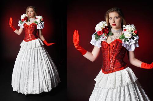 Liefdeskostuum, Ballroom, Bloemendame, Classic Champagne, Wedding, Valentijn, Liefde, Moulin Rouge