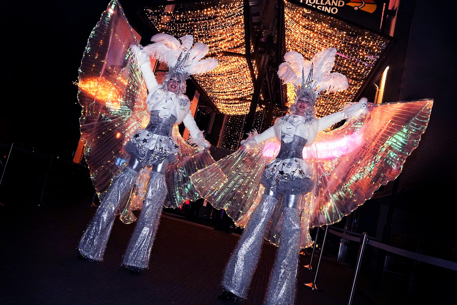Steltenact, Steltenlopers, Stelten loper, Welkomst act, Openingsact, Gastenontvangt, luxe entertainment, orginele entertainment