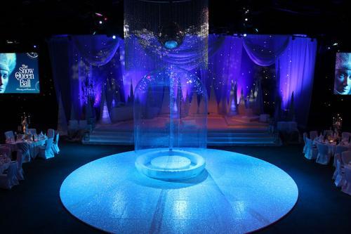 Opblaasbaar decor in privat event zaal - dinnershow