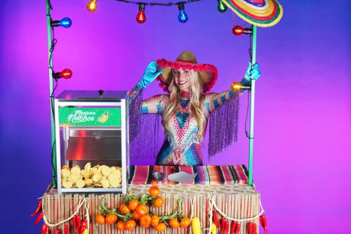 Nacho Bar, food entertainment, Catering act, Nacho's, Mexican Party, Mexico, feest