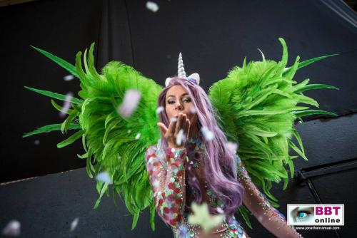 Fantasy Unicorn, Welkomst act, Openingsact, Entree entertainment, Eventshow, Opening rode loper,  Fantasy, Magisch, Themadames, Welkomstact, Zomers entertainment, Summer parrty, Event entertainment