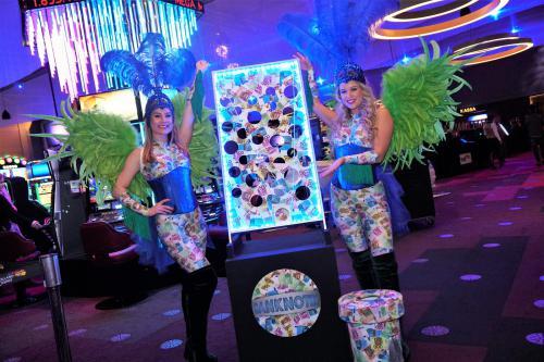 Casino event spel, Las Vegas, Bankbiljetten, James Bond, Showgirls, spel entertainment, mobiel spel, event entertainers