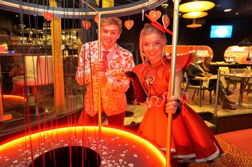 Event entertainment, mobiel spel, liefde en geluk, Valentijn, Love is in the air, event spel, thema entertainment