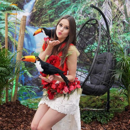 Jungle, Summer, Caribbean, Fotobooth, Hawaii, Caribbean, fotobooth, vent decoratie, event decors, aankleding