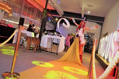 Welkomst act, Circus act, circus entertainment, event entertainment, Gold Party, Gala, Levende Loper, Rode Loper, Luxe gastenontvangt, event entertainment, winkelcentrum promotie, welkomst act, orginele loper, luxueuze loper